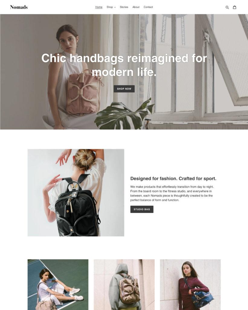 Shopifyデザインテンプレート